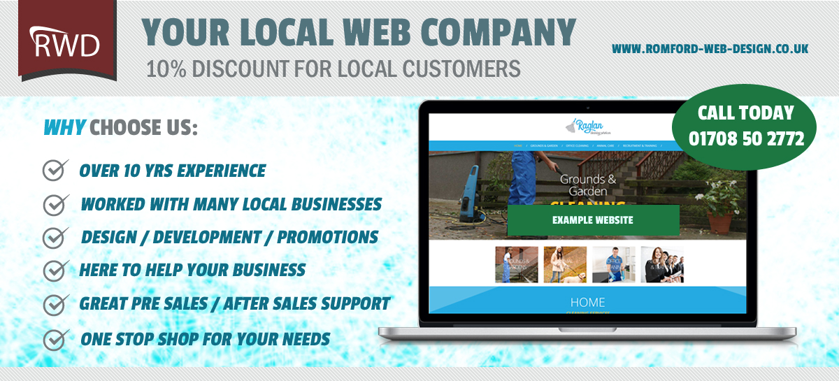 Local Web Design Company in Romford