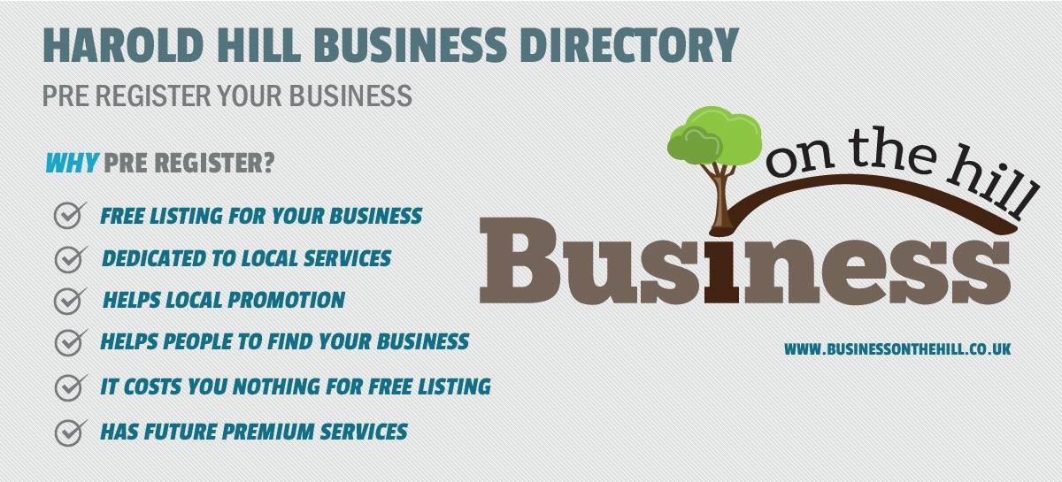 Business Directory in Harold Hill - Business on the hill
